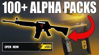 OPENING 100+ ALPHA PACKS! IM SO LUCKY! - Rainbow Six Siege