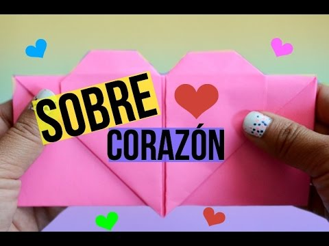 SOBRE CORAZÓN Origami para cartas 💌/ heart envelope origami