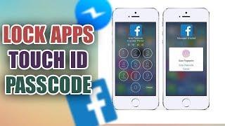 Khóa Facebook Messenger bằng Passcode - PASSCODE LOCK Apps on iPhone