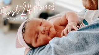 FIRST 24 HOURS WITH A NEWBORN IN THE HOSPITAL // Hospital Birth During Covid!
