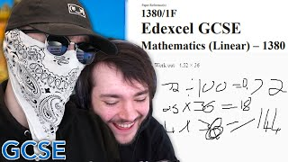 George And James Take GCSE Maths Exam