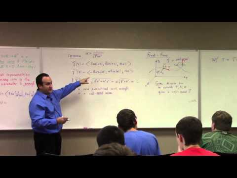 Multivariate Calculus: Lecture 10: Frenet Serret Frame and Equations
