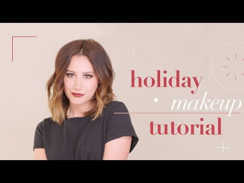 My Holiday Makeup Tutorial  Ashley Tisdale