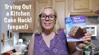Trying Out a Kitchen Cake Hack! (vegan!)