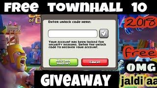TOWNHALL 10 GIVEAWAY CLASH OF CLANS | FREE TH 10 | PRO TECH RAHUL 1 GIVEAWAY