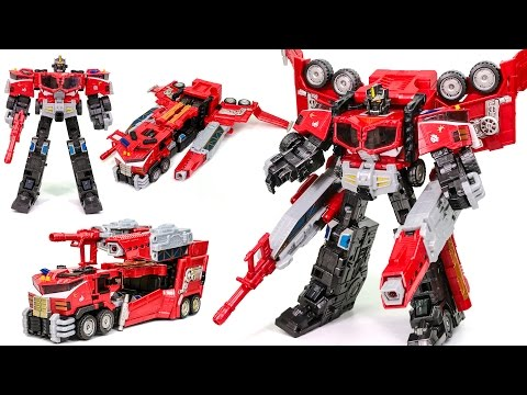 Transformers Cybertron Leader Galaxy Force Optimus Prime Truck Vehicle Car Robot Toys