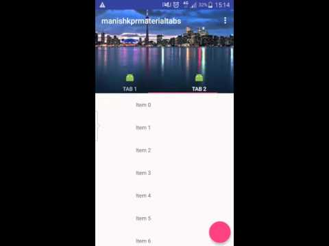 Android Material Design Tabs Collapsible Example | manishkpr