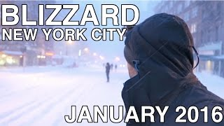 NYC Blizzard 2016 - Snow Storm in New York City