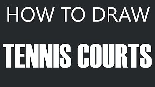 How To Draw A Tennis Court - Grass Tennis Court Drawing (Tennis Courts)