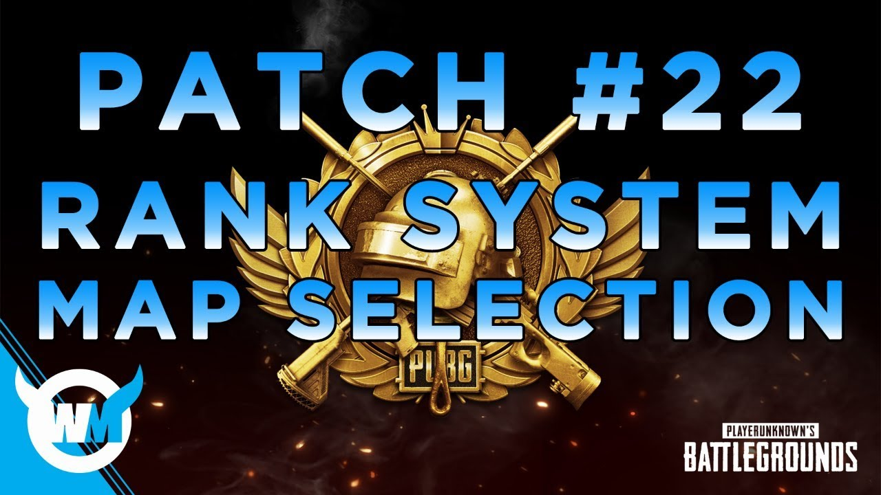 PUBG UPDATE - RANK SYSTEM AND MAP SELECTION! - NEW PATCH NOTES REVIEW
