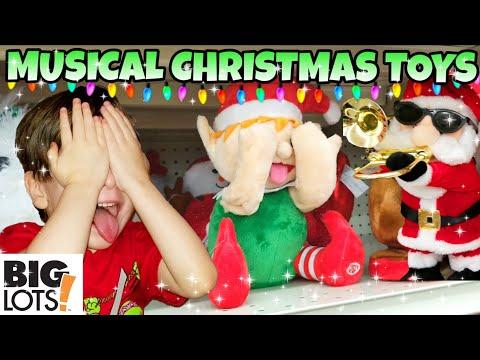 Musical Christmas TOYS at BIG LOTS! Animated Singing and dancing PLUSH 2018