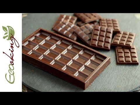 Живой черный шоколад (темперированный) / 2 способа / vegan / без сахара