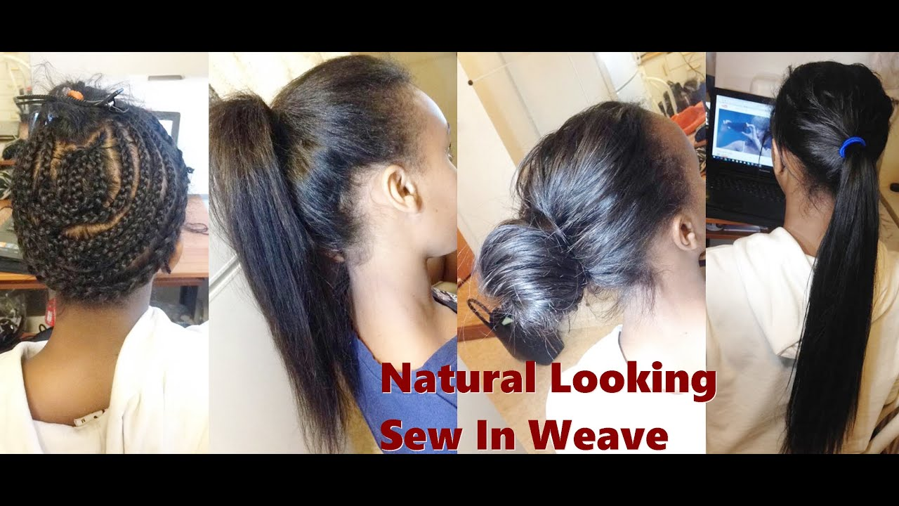 How To Natural Looking Sew In Weave Youtube