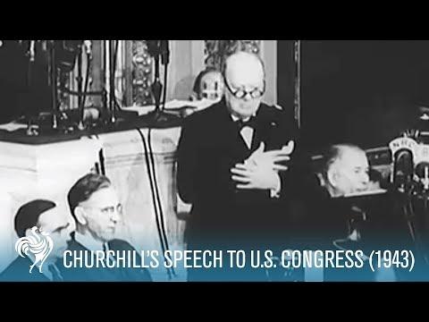 Sir Winston Churchill's Fighting Speech To U.S. Congress (1943) | British Pathé