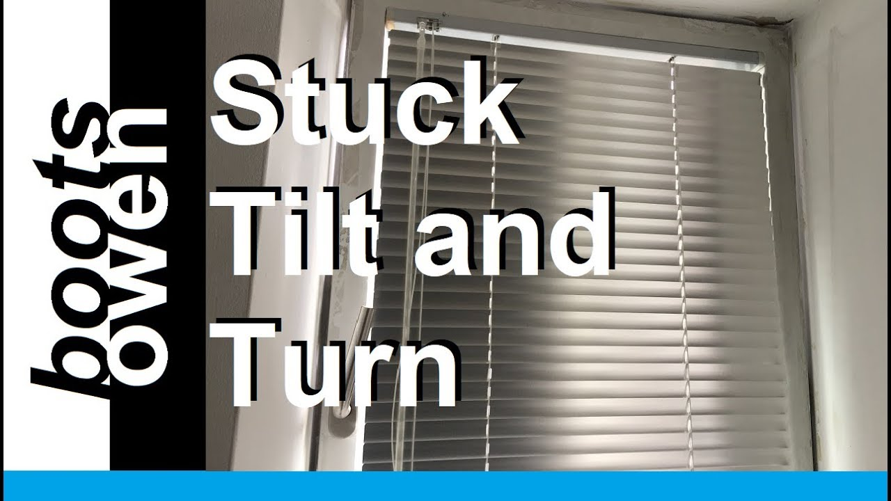 How To Fix A Stuck Tilt And Turn Window