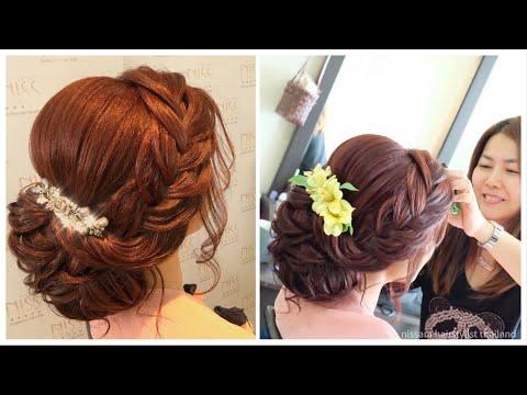 #Hair #Gorgeous #Wedding  #Hairstyles #Updo #Messy #Curls with #braids. #tutorial #hairdo