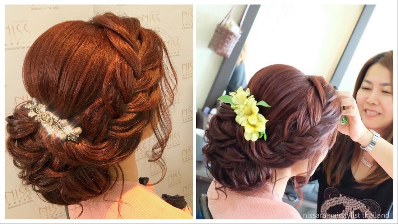 #hair #gorgeous #wedding #hairstyles #updo #messy #curls with #braids. #tutorial #hairdo