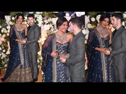 Priyanka Chopra blusing so much with Nick Jonas for their Wedding Reception in Mumbai