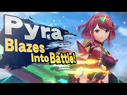 Super Smash Bros Ultimate Pyra & Mythra Reveal Trailer Nintendo Direct 2021 HD