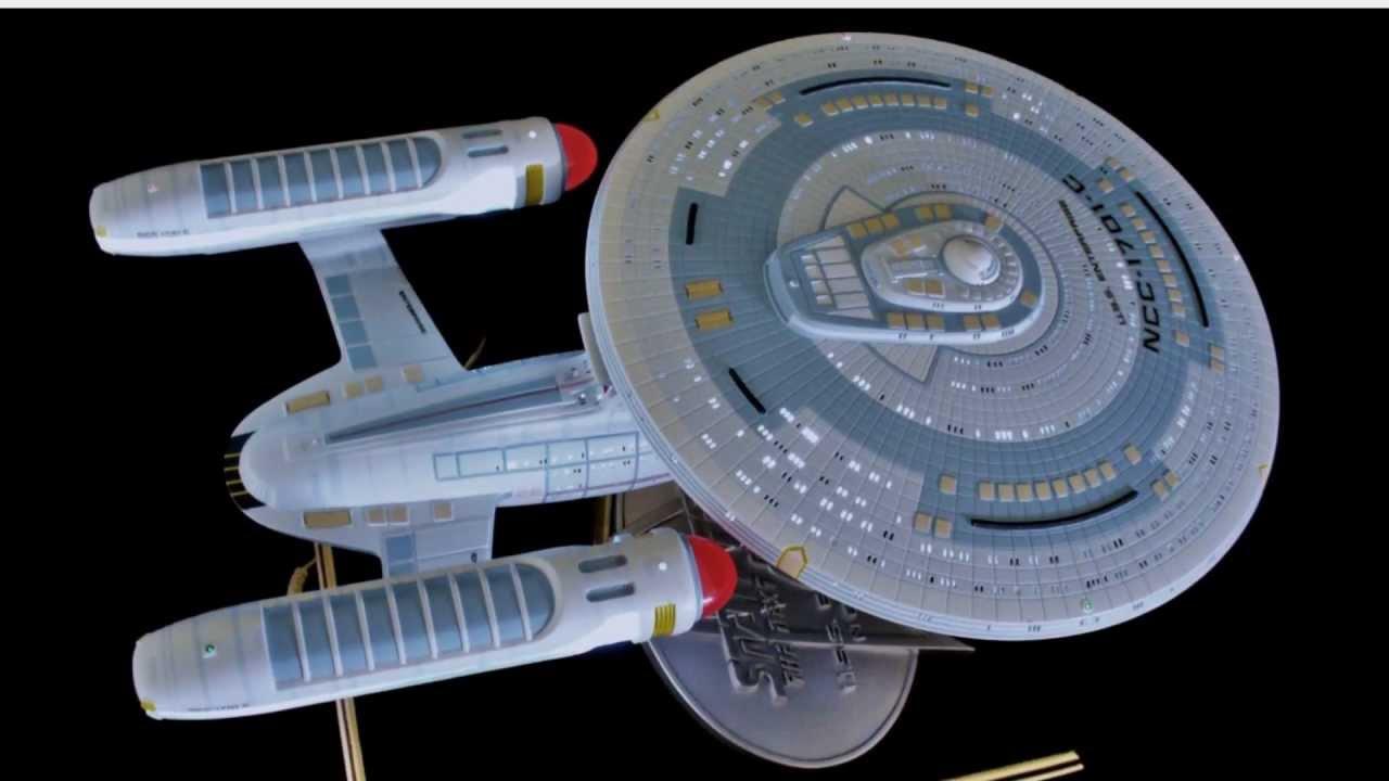 Papercraft imprimible y armable de la nave USS Enterprise NCC-1701-C. Manualidades a Raudales.