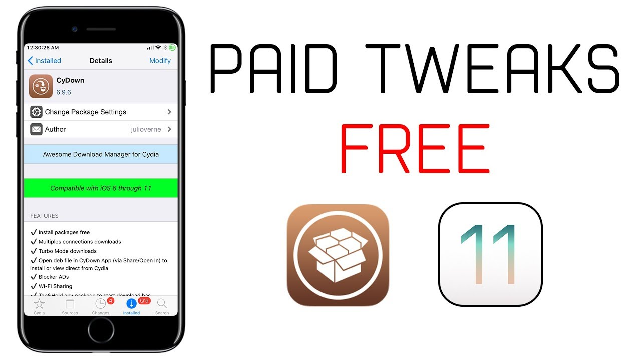How to Get Paid Cydia Tweaks for Free on iOS 11 3 1 | Electra Jailbreak