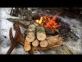 Fire Starting in Horrible Weather | Bushcraft Skill Challenge