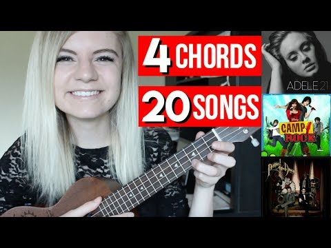 4 chords, 20 songs on UKULELE