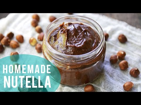 How to Make Nutella | 3 INGREDIENTS ONLY!