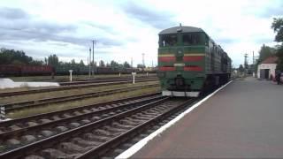 2ТЭ10У 0486 и манёвры+ отправления 102 поезда(, 2017-06-17T09:22:37.000Z)