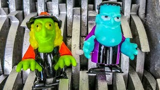 Walking Zombies Shredded! Scary Wind-Up Toys Destroyed! What's Inside Scary Slime Water Toys Squish
