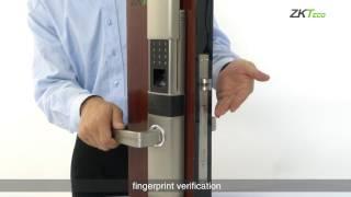 видео Новый биометрический замок ZKTeco HL-100ZK со сканером отпечатка пальца