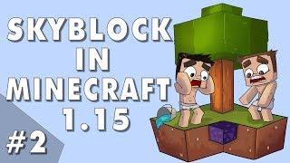 Easy Mob Farming! - Skyblock In Minecraft 1.15: Episode #2