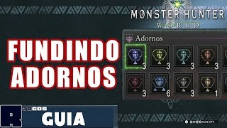 Bons ADORNOS na Fundição! Fiz 11 vezes - Monster Hunter World Dica/Guia