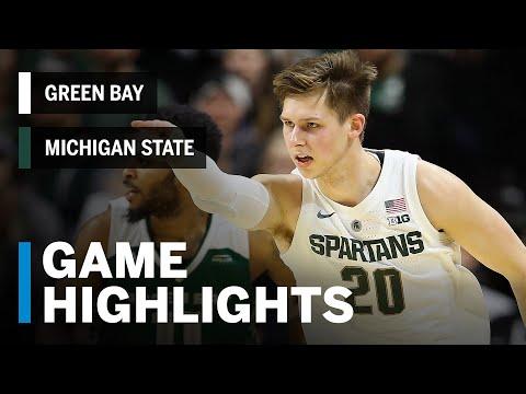 Highlights: Green Bay at Michigan State | Big Ten Basketball