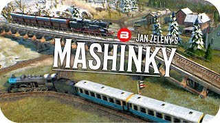 MASHINKY Gameplay - TRANSCONTINENTAL LINE Part 1 - Tycoon Trains Simulator/Railroad Tycoon #6