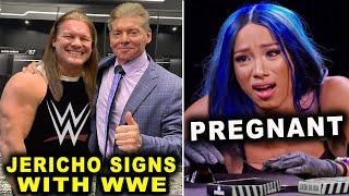 Sasha Banks Pregnant Chris Jericho Signs with WWE Wrestling News Rumors September 2021