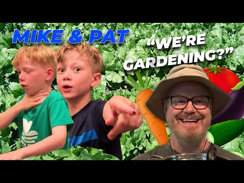 eating-from-jim-gaffigan's-garden!-|-mike-&-pat-show