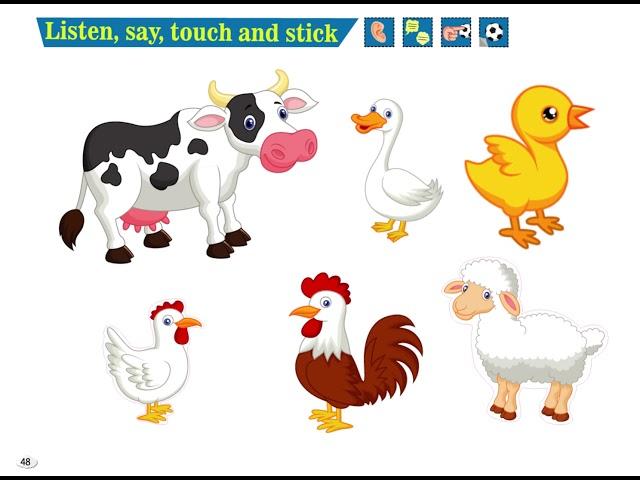 Listen, Say, Touch and Stick - Cim and Cimcime - Okul Öncesi İngilizce Eğitim