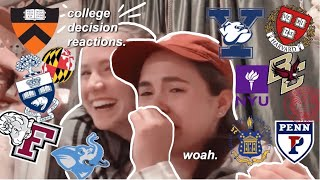 COLLEGE DECISION REACTIONS 2019!! 15+, IVY LEAGUES + more (YALE, UPENN, HARVARD, NYU, TUFTS etc.)!!