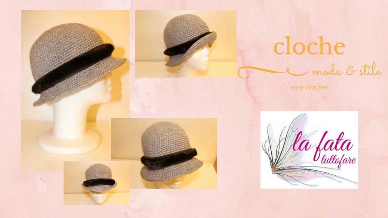 Tutorial Cappello Cloche Hat Crochetlafatatuttofare