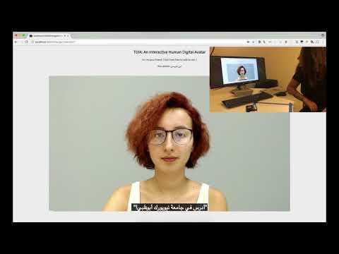 A Bilingual Interactive Human Avatar Dialogue System - Arabic/English Demo