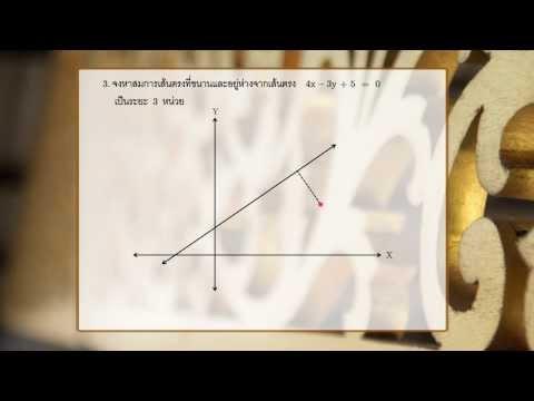 วิชาคณิตศาสตร์ - ระยะทางระหว่างจุดกับเส้นตรง