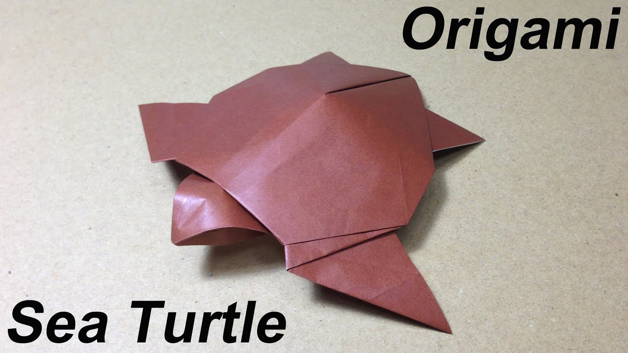 Papercraft How to Make a Paper Animal / Origami Sea Turtle