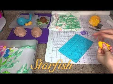 Tutorial Making Fondant Sea Shell, Star Fish