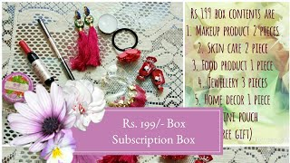 Backstagedressingroom | Rs.199/- box | beauty lifestyle subscription box | India thumbnail