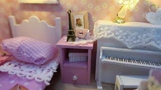 DIY Minyatür Bebek Evi Yatak Odası ve Oda Dekoru Miniature Modern Doll Room - Bidünya Oyuncak