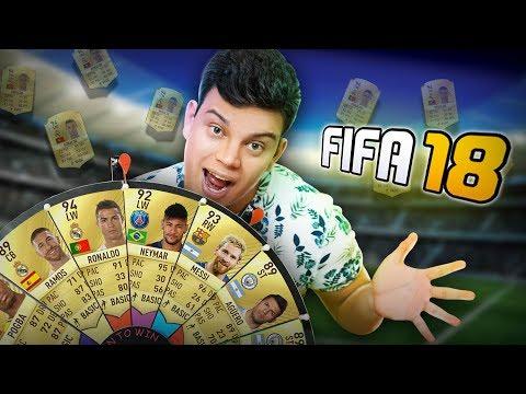 FIFA 18 - ESCOLHENDO O TIME NA ROLETA !  - FUTDRAFT ‹ PORTUGAPC ›