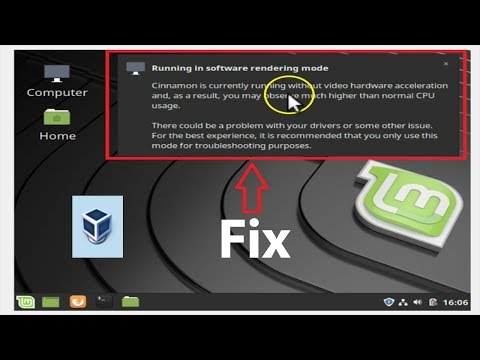 How to Fix 'Running in Software Rendering Mode' in Linux Mint 19 1