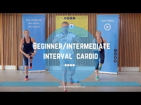 Beginner/intermediate interval cardio workout Cardio starter 2!