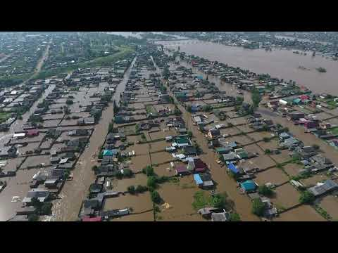 Наводнение Нижнеудинск 28.06.2019 Нижнее Заречье